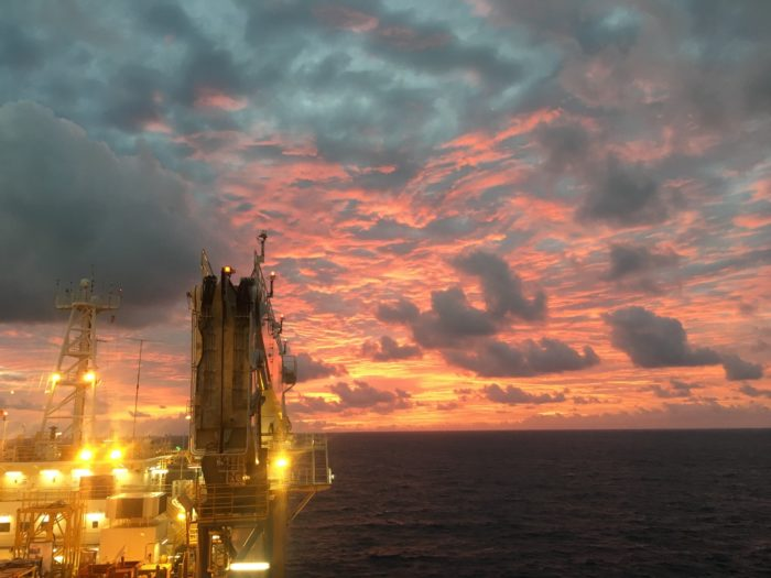 Offshore Oil Rig Sunset